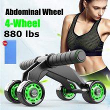 4 Wheel Abdominal Trainer Ab Wheel